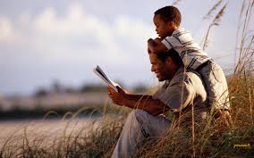 dad and son read